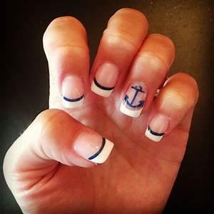 My nautical nails | Nautical nails, Cruise nails, Beach nails