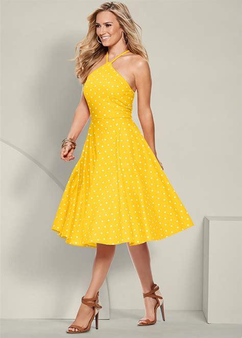 polka dot dress  yellow venus