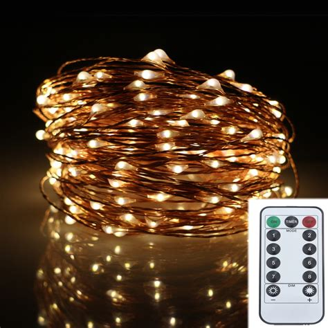 led modes copper wire battery operated led string
