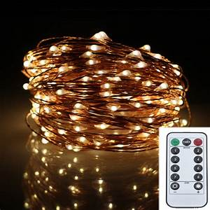 Battery Led Fairy Lights Outdoor 20m 200led 8modes Copper Wire Battery Operated Led String