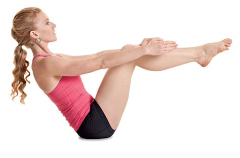 Boat Pose With A Block by Asanas For Nursing Mothers Fitness