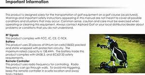 Adept Ewheels Remote Control For Golf Trolley Drive User
