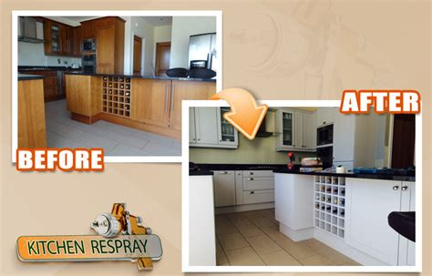 cost to have kitchen cabinets professionally painted kitchen respray irelands all surface respray