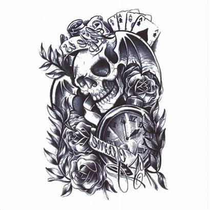 Tattoo Tattoos Arm Skull Sticker Temporary Leg
