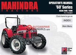 Mahindra Tractor 60 Series 8560 2wd   4wd Tier Iii