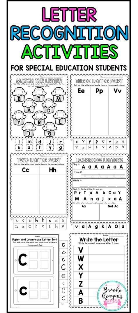 Letter Recognition Upper And Lowercase Activities For Special Education Students Special