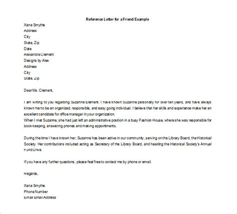 letter of recommendation for a friend 25 friend recommendation letters pdf doc free