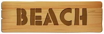Beach Sign Clip Wooden Clipart Summer Clipartpng