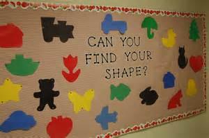 Shape Bulletin Board Preschool