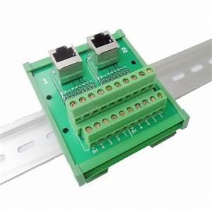 Rj45 Dual Connectors To Screw Terminal Block Wiring