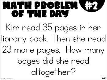 grade math problem   day st  weeks