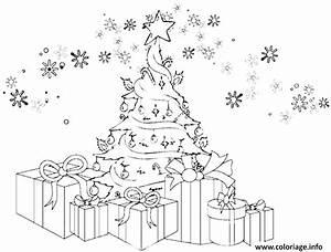 Dessin Sapin De Noel Moderne : coloriage sapin de noel avec des cadeaux et des flocons de neige dessin ~ Melissatoandfro.com Idées de Décoration