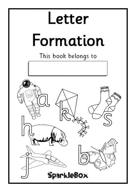 letter formation workbook sb sparklebox