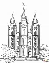 Temple Salt Lake Coloring Templo Lds Printable Colorir Clipart Ausmalbilder Supercoloring Colorare Imprimir Desenhos Birijus Tempio Jesus Mormon Graphics Nauvoo sketch template