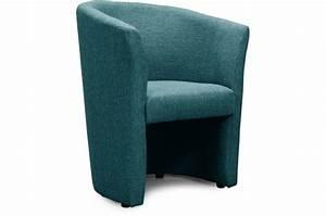 Fauteuil Bleu Canard : fauteuil cabriolet tissu bleu canard belize design sur sofactory ~ Teatrodelosmanantiales.com Idées de Décoration