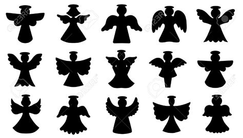 clipart  angel ornament silhouette clipground