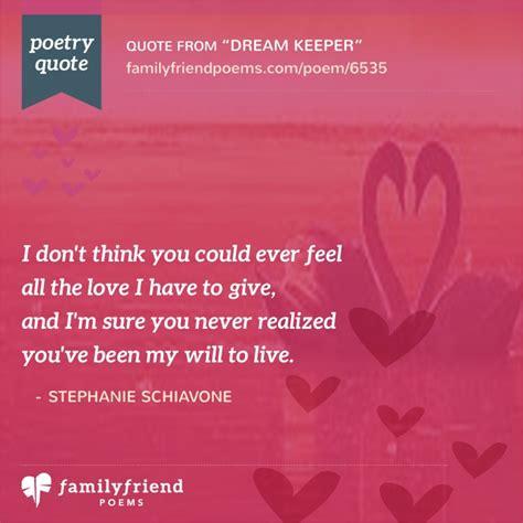 dream keeper sweet love poem