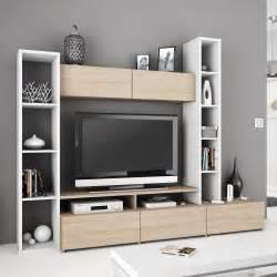 tv pour chambre meuble tv blanc avec rangement mobilier design