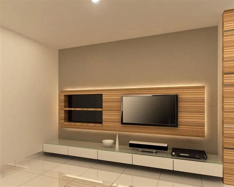 backlit tv console design family room tv wall design