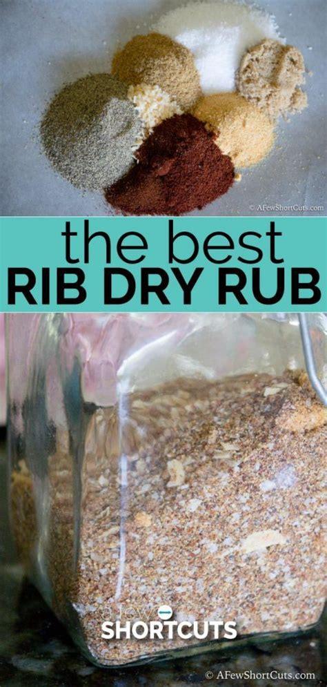 rib dry rub   shortcuts