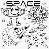 Coloring Moon Pages Printable Drawing Satellite Preschool Star Theme Super Spaceship Rover Range Natural Clip Sketch Lunar Space Activities Cabin sketch template