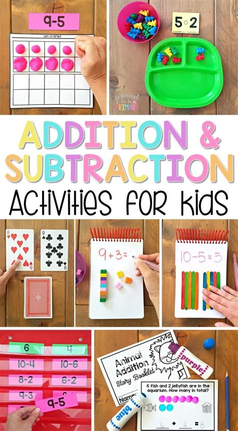 Addition And Subtraction To 20 Activities For Kids  Math Centers  Pinterest  Math, First