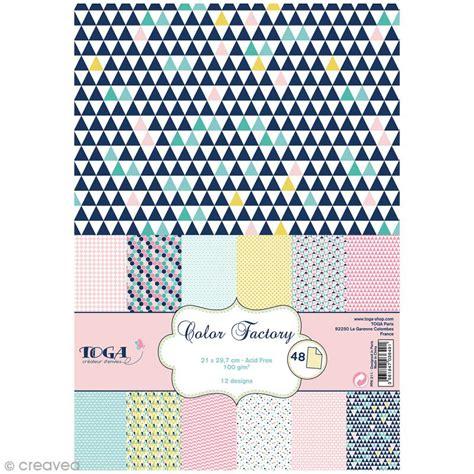 feuille de cuisine papier scrapbooking toga color factory géométrique