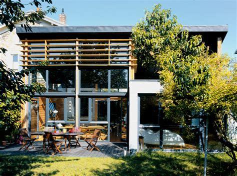 cuisine moderne dans maison ancienne une extension en bois