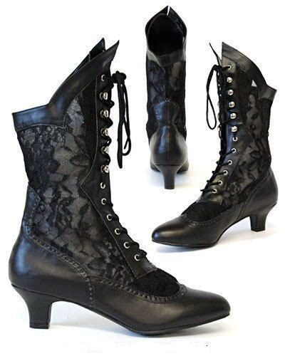 gothic victorian steampunk vintage boots burlesque cancan