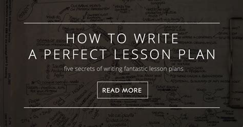 how to write a lesson plan 5 secrets of writing fantastic