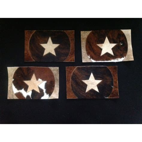 Cowhide Placemats by Brown Cowhide Placemats
