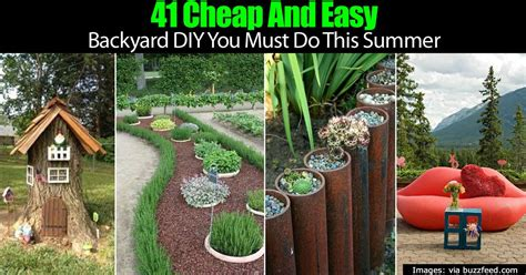 Backyard Ideas For Summer by 41 Cheap And Easy Backyard Diy Projects You Must Do This