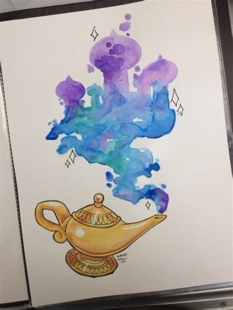 arabian nights watercolor disney aladdin tattoo disney