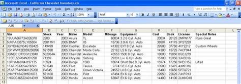 car inventory spreadsheet check   https
