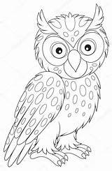 Owl Coloring Eared Drawings 41kb 1023px sketch template