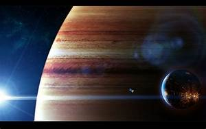 Wallpaper colonized satellite in front of Jupiter free ...