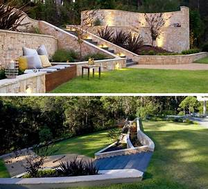 Tondeuse Pour Terrain En Pente : terrasse sur terrain en pente en restanque marches d ~ Premium-room.com Idées de Décoration