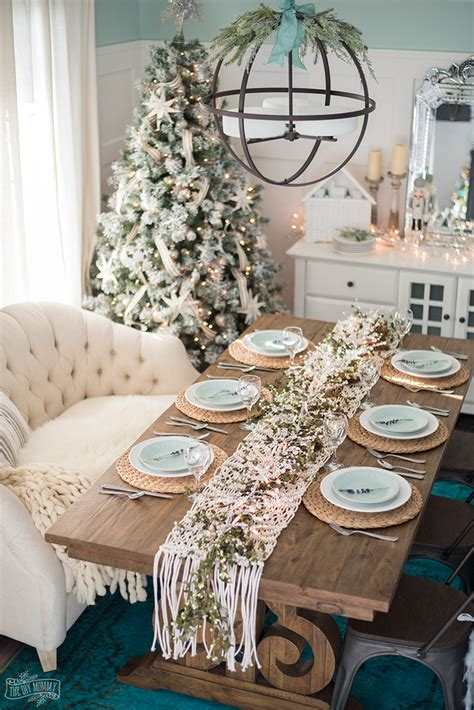 french country farmhouse christmas dining room table