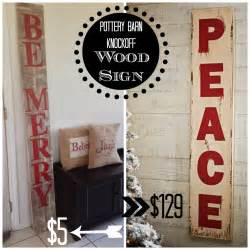 two it yourself diy large christmas sign pottery barn peace sign knockoff