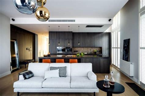 modern living room and kitchen design living room and kitchen in one space 20 modern design 9765
