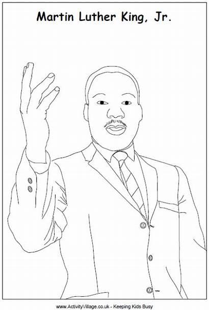 Luther Martin King Colouring Jr Dr Worksheet
