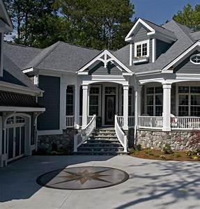 exterior home ideas Exterior Transitional with chimney ...