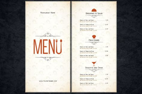 Resturant Menu Template by Restaurant Menu Template 53 Free Psd Ai Vector Eps