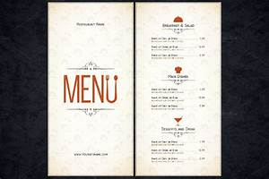 blank menu template vintage restaurant menu template With free restaurant menu templates for mac