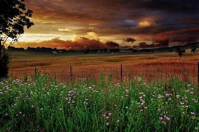 Farm Scene Sunset Virginia Heavenly Wv Agriculture
