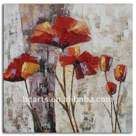 peinture fleures abstrait imagui