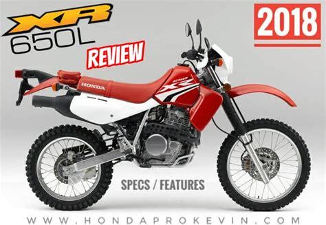 2018 Honda Xr650l Review Of Specs / Features || Dual-sport