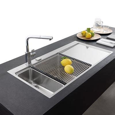 eviers de cuisine évier de cuisine design inox 1 bac égouttoir mythos espace aubade