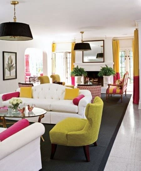 Living Room Colors That Pop by Pop Of Fresh Color Living Room
