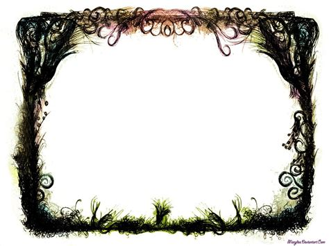 grunge fantasy border  marylise  deviantart design